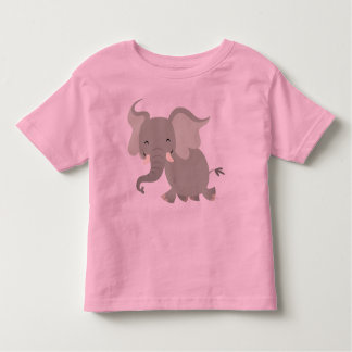 Joyeux T-shirt mignon d'enfants d'éléphant de