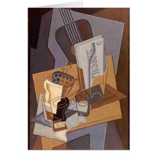 Juan Gris- le livre de la musique Carte De Vœux