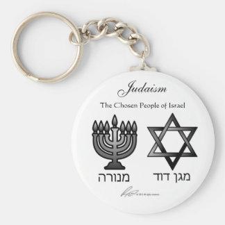Judaïsme - porte - clé porte-clé rond