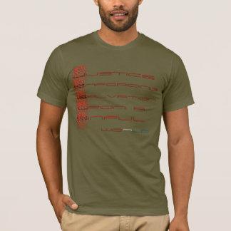 Juge imposant le salut sur un monde pécheur t-shirt