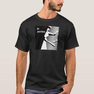 Juge minimaliste noir et blanc t-shirt