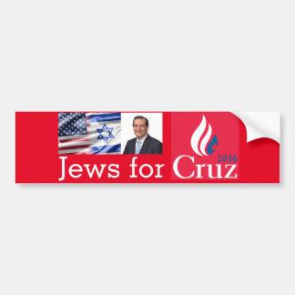 Juifs pour l'adhésif pour pare-chocs de Cruz Autocollant De Voiture