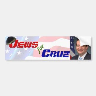 Juifs pour l'adhésif pour pare-chocs de Ted Cruz Autocollant De Voiture
