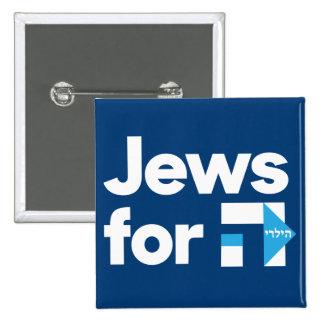 Juifs pour le bouton de Hillary Pin's