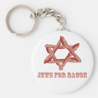 Juifs pour le lard porte-clé rond