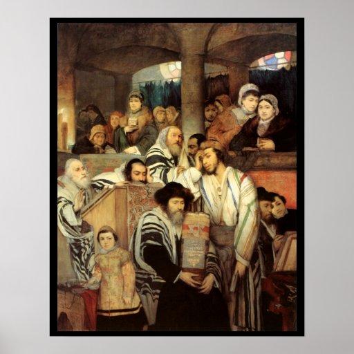 Juifs priant par Maurycy Gottlieb - Circa 1878 Posters