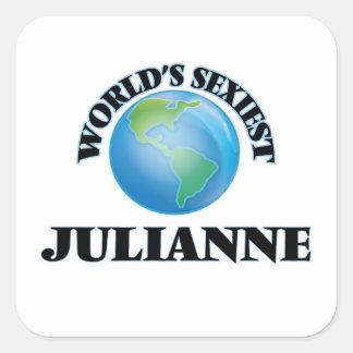 Julianne le plus sexy du monde stickers carrés