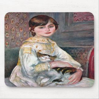 Julie Manet (enfant avec le chat) Renoir Tapis De Souris