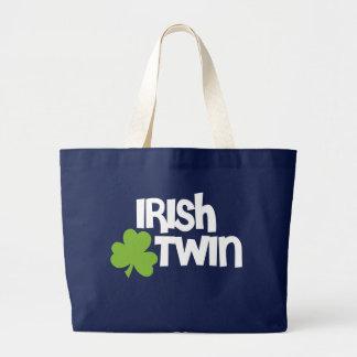 Jumeau irlandais grand tote bag