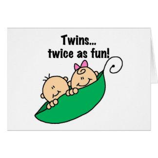 Jumeaux de cosse de pois deux fois comme amusement cartes