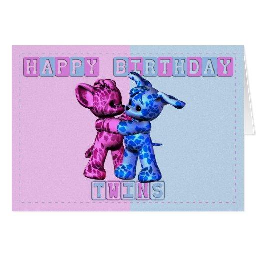 Jumeaux de joyeux anniversaire cartes