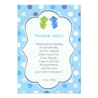 Jumeaux de note de carte de remerciements de carton d'invitation  12,7 cm x 17,78 cm