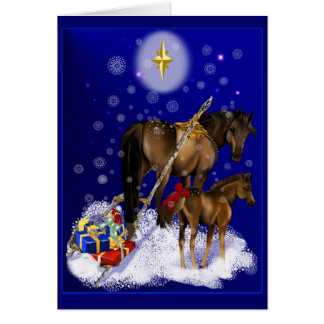 Jument de Noël et carte de bébé
