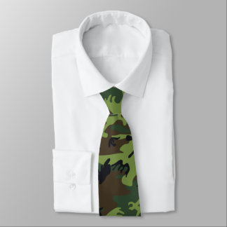 Jungle Camo vert Cravates