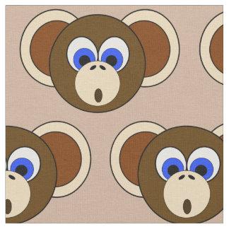 Jungle idiote Brown animal de bande dessinée de Tissu