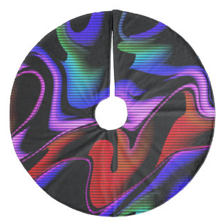 Jupon De Sapin En Molleton abstraction chaude avec les lignes 2