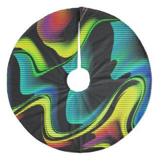 Jupon De Sapin En Molleton abstraction chaude avec les lignes 4
