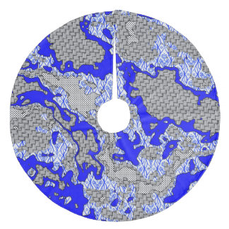 Jupon De Sapin En Molleton Mélange abstrait unique 2B de motif