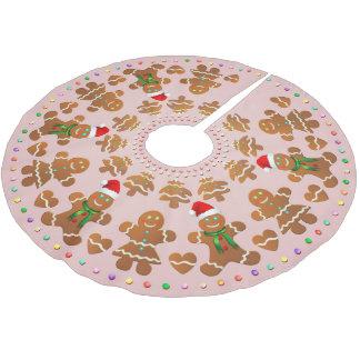 Jupon De Sapin En Polyester Brossé 11 garçons et filles de pain d'épice célébrant