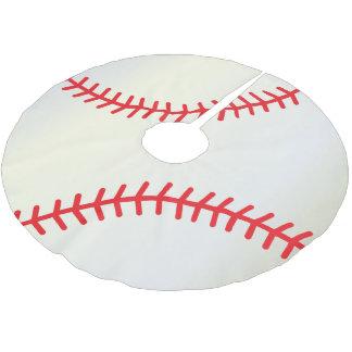 Jupon De Sapin En Polyester Brossé Amants de base-ball de Joyeux Noël