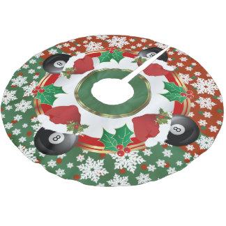 Jupon De Sapin En Polyester Brossé Amants de billards de Joyeux Noël
