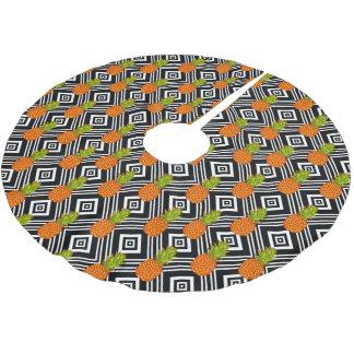 Jupon De Sapin En Polyester Brossé Ananas géométriques