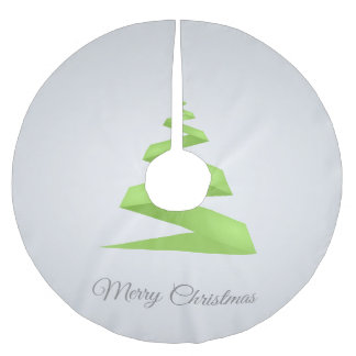 Jupon De Sapin En Polyester Brossé Arbre de Noël simple de ruban de Noël