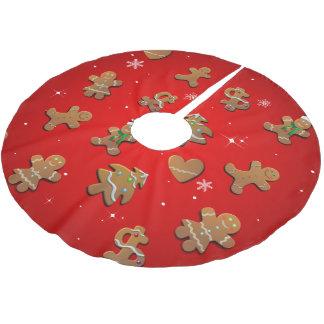 Jupon De Sapin En Polyester Brossé Biscuits de pain d'épice