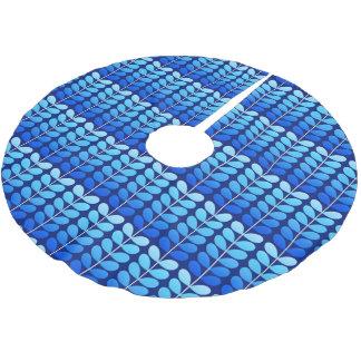 Jupon De Sapin En Polyester Brossé Bleu danois de feuille, de marine et de cobalt de