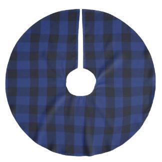 Jupon De Sapin En Polyester Brossé Bûcheron bleu rustique de plaid de contrôle de