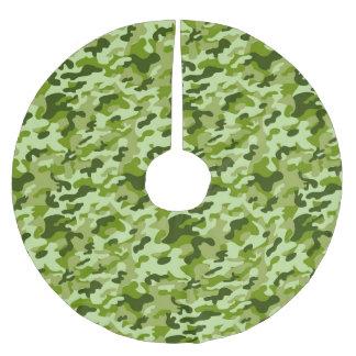 Jupon De Sapin En Polyester Brossé Camouflage vert - jupe d'arbre de Noël