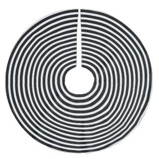 Jupon De Sapin En Polyester Brossé Cercles noirs et blancs d'illusion