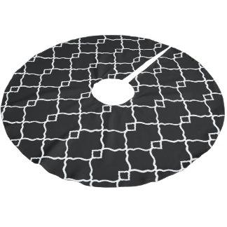 Jupon De Sapin En Polyester Brossé Classique-Noir-Blanc-Geo-Diamants