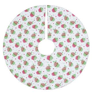 Jupon De Sapin En Polyester Brossé Conception de petits gâteaux de Noël comme