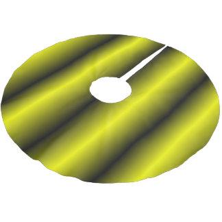 Jupon De Sapin En Polyester Brossé Conception jaune et noire de bourdon de rayure