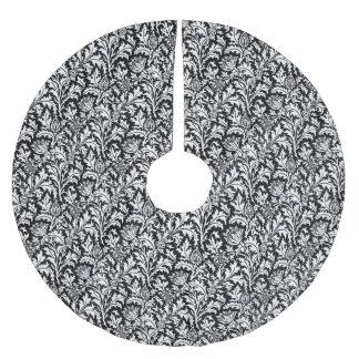Jupon De Sapin En Polyester Brossé Damassé de chardon de William Morris, noire et