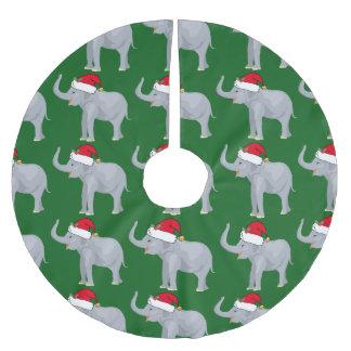 Jupon De Sapin En Polyester Brossé Éléphant mignon de Noël