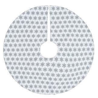 Jupon De Sapin En Polyester Brossé Flocon de neige