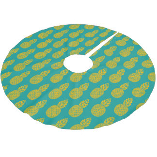 Jupon De Sapin En Polyester Brossé Fruit tropical d'ananas
