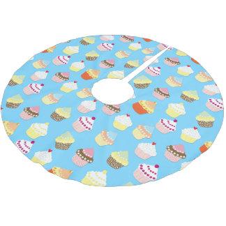 Jupon De Sapin En Polyester Brossé Gâteaux bleus en pastel pâles de tasse