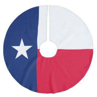 Jupon De Sapin En Polyester Brossé Graphique dynamique de drapeau d'état du Texas sur