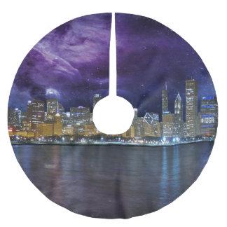 Jupon De Sapin En Polyester Brossé Horizon planant de Chicago
