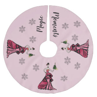 Jupon De Sapin En Polyester Brossé Illustration de mode de Noël avec l'arbre