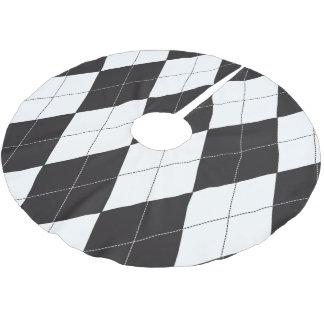 Jupon De Sapin En Polyester Brossé Jacquard noir et blanc
