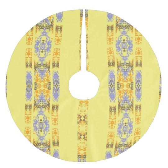 Jupon De Sapin En Polyester Brossé jaune