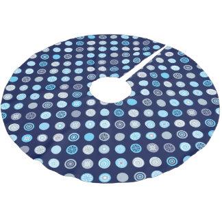 Jupon De Sapin En Polyester Brossé Jupe bleue d'arbre de motif de point d'hiver