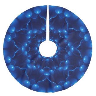 Jupon De Sapin En Polyester Brossé Jupe bleue électrique d'arbre de kaléidoscope