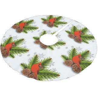 Jupon De Sapin En Polyester Brossé Jupe cardinale d'arbre de Noël