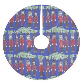 Jupon De Sapin En Polyester Brossé Jupe d'arbre de Noël de suite de casse-noix