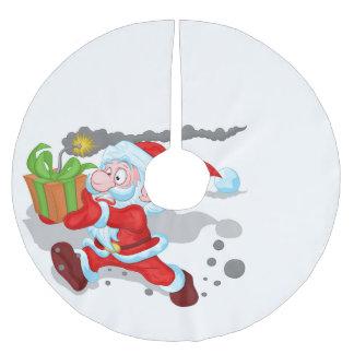 Jupon De Sapin En Polyester Brossé Jupe de coutil d'arbre de Père Noël de temps